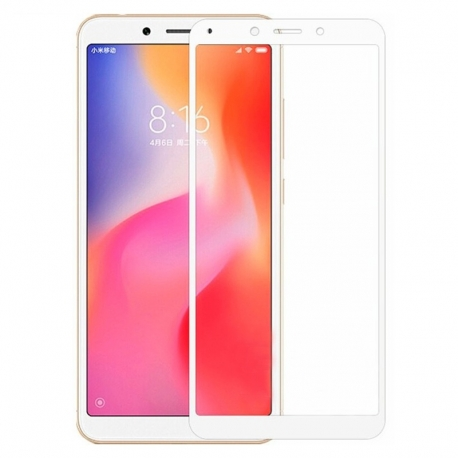 Защитное стекло Xiaomi Redmi 6 Full Screen White
