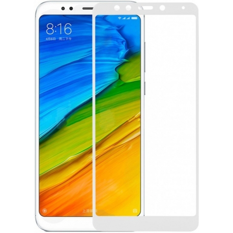 Защитное стекло Xiaomi Redmi 5 Plus Full Cover White
