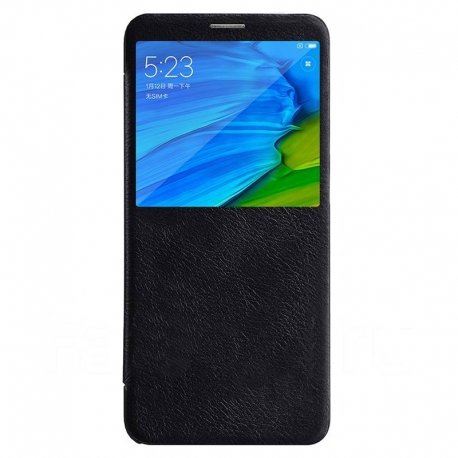 Чехол-книжка Xiaomi Redmi 5 Plus Book Cover Black с окном