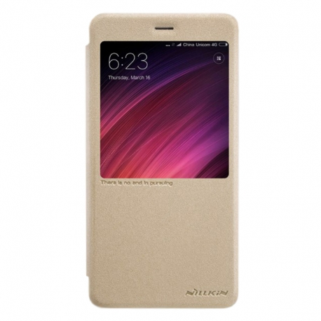 Чехол-книжка Xiaomi Redmi 5 Plus Book Cover Gold с окном