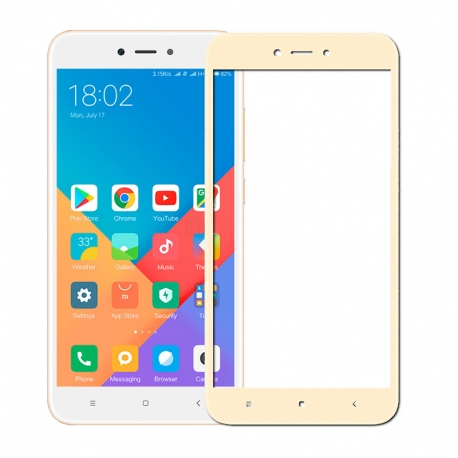 Защитное стекло Xiaomi Redmi 5A Full Screen Gold