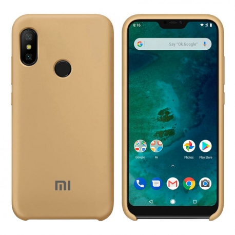 Чехол-накладка Xiaomi Mi A2 Lite/Redmi 6 Pro Original Soft Case Gold
