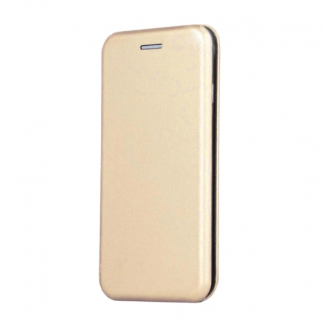 Чехол-книжка Premium Leather Case Samsung A605 (A6+ 2018) Gold