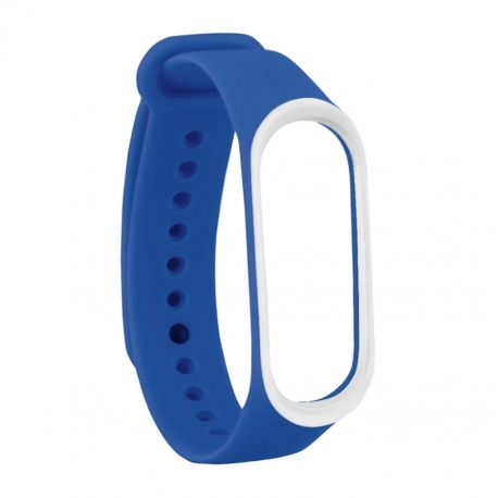 Ремешок Xiaomi MI Band 3 Blue/White