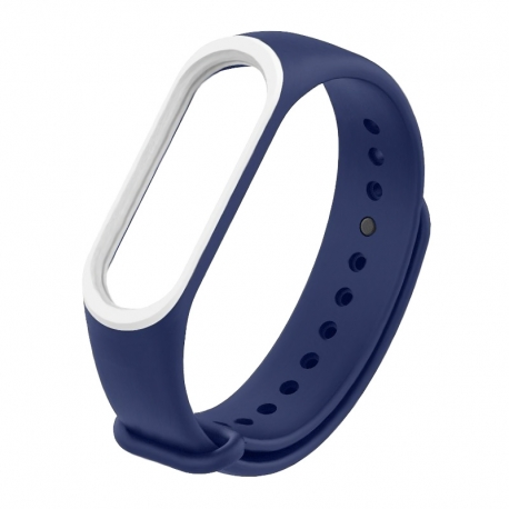 Ремешок Xiaomi MI Band 3 Dark Blue/White