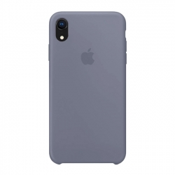 Чехол-накладка iPhone Xr Silicone Case lavender gray