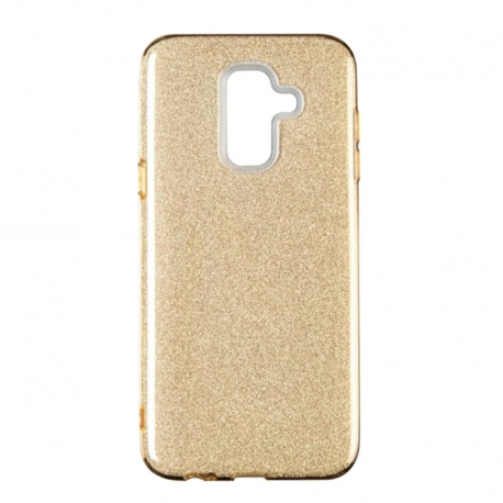 Чохол-накладка Samsung J8-2018 Remax Glitter Silicon Case Gold
