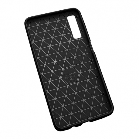 Чохол-накладка Samsung A7-2018/A750 Triangle Pattern Soft Case Black