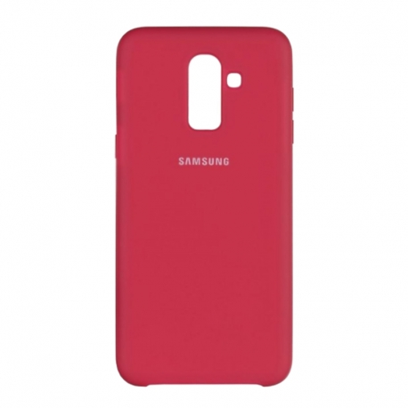 Чохол-накладка Samsung J8-2018 Original Soft Case Bordo
