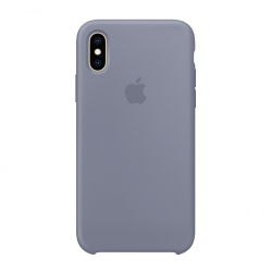 Чехол-накладка iPhone Xs Max Silicone Case lavender gray