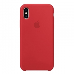 Чехол-накладка iPhone Xs Silicone Case red