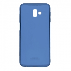 Чехол-накладка Samsung J6 Plus 2018 MiaMI Glass Blue