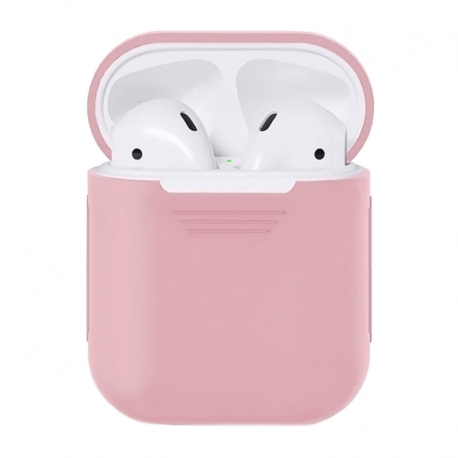 Чехол для Airpods Silicone Case pink sand