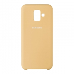 Чехол-накладка Samsung A600 (A6 2018) Original Soft Case Gold