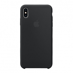 Чехол-накладка iPhone Xs Max Silicone Case black