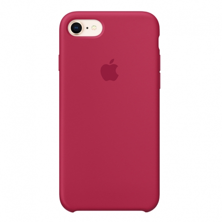 Чохол-накладка iPhone Xs Silicone Case rose red