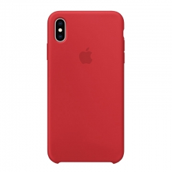 Чехол-накладка iPhone Xs Max Silicone Case red