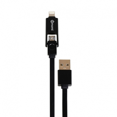 USB cabel Apple Lightning Nomi DCТ 10mi USB micro&Lightning 1м Black