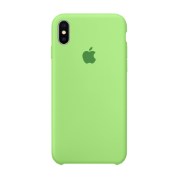 Чехол-накладка iPhone Xs Silicone Case green