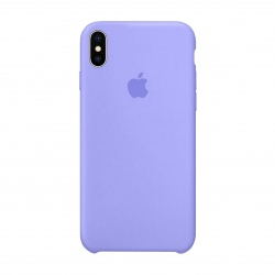 Чехол-накладка iPhone Xs Silicone Case lilac cream